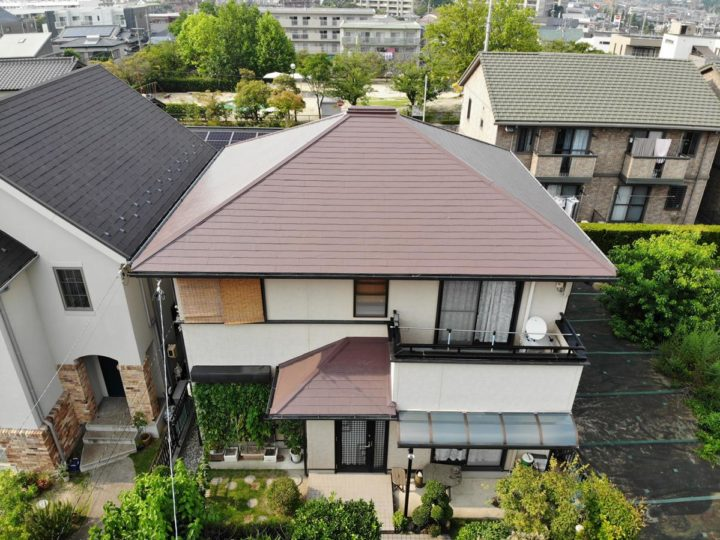 長久手市 A様邸 屋根塗装 タスペーサー設置