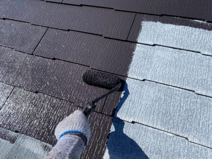 屋根中塗り(上塗り1回目)