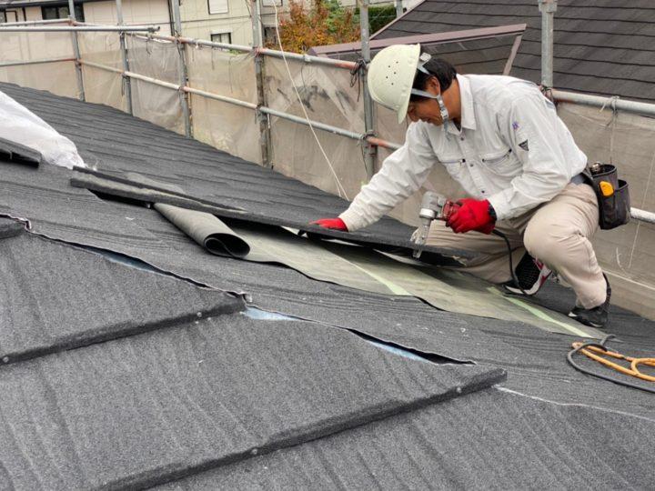 屋根材敷設