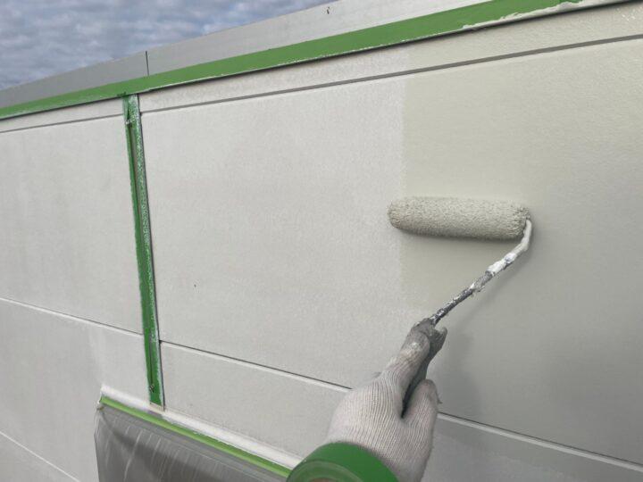 外壁上塗り(上塗り2回目)
