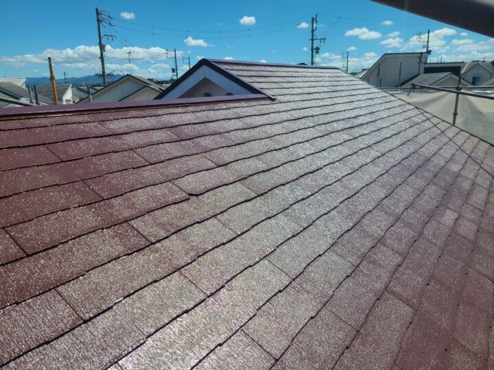屋根上塗り(上塗り2回目)